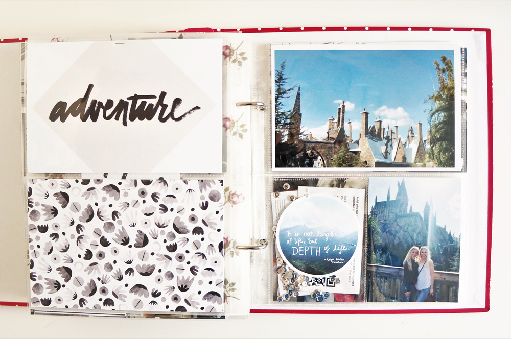 Harry Potter World Scrapbook Mini Album 6x8 Project Life (30).jpg