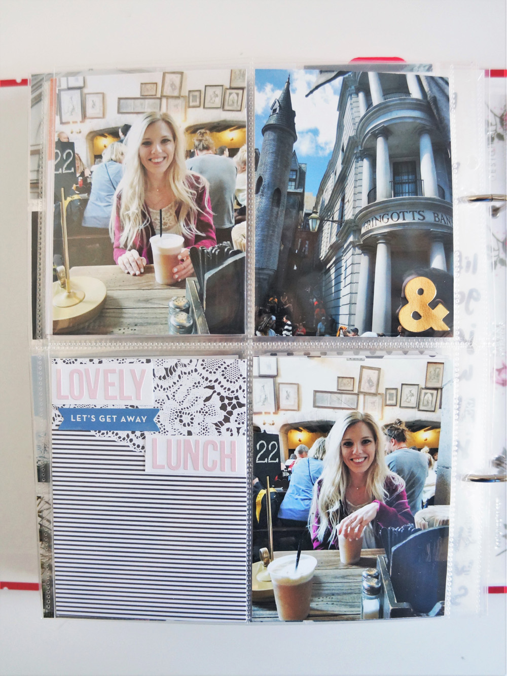 Harry Potter World Scrapbook Mini Album 6x8 Project Life (24).jpg