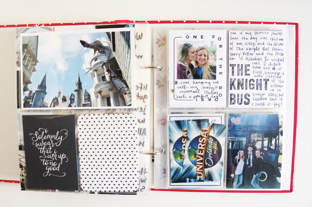 Harry Potter World Scrapbook Mini Album 6x8 Project Life (19).jpg
