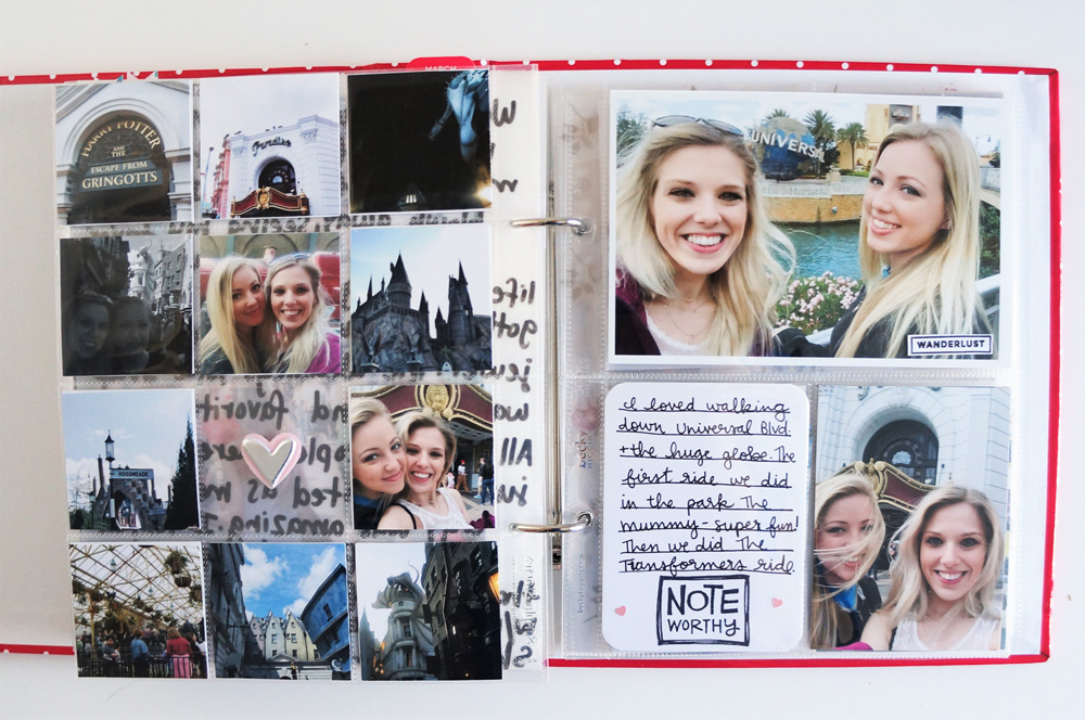 Harry Potter World Scrapbook Mini Album 6x8 Project Life (15).jpg