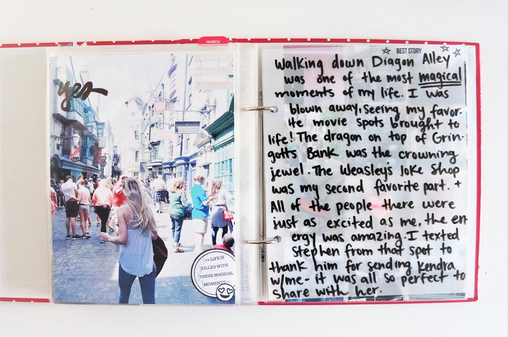 Harry Potter World Scrapbook Mini Album 6x8 Project Life (11).jpg