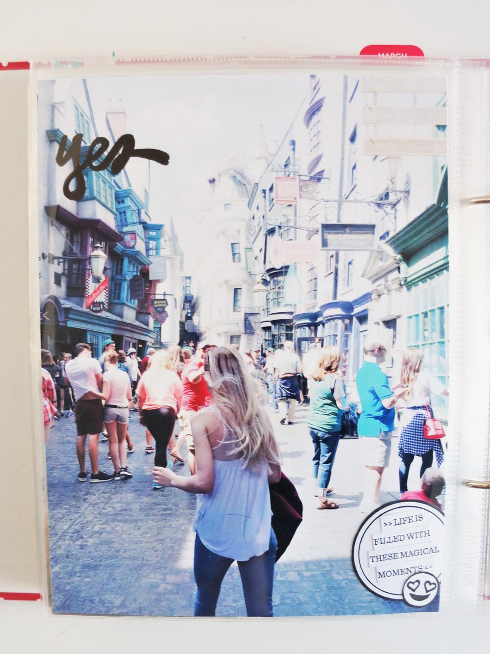 Harry Potter World Scrapbook Mini Album 6x8 Project Life (10).jpg