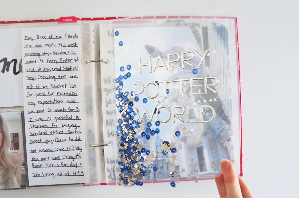 Harry Potter World Scrapbook Mini Album 6x8 Project Life (7).jpg