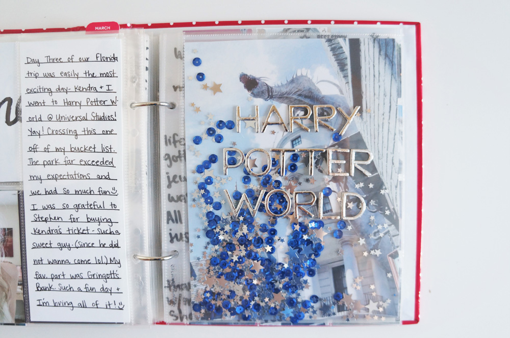 Harry Potter World Scrapbook Mini Album 6x8 Project Life (6).jpg