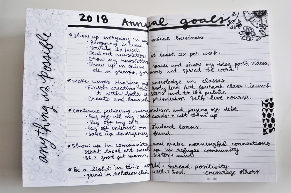 2018 Bullet Journal one little word and annual goals bujo (16).jpg