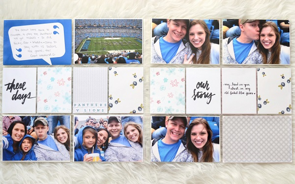 Football + Blue Fall Layouts