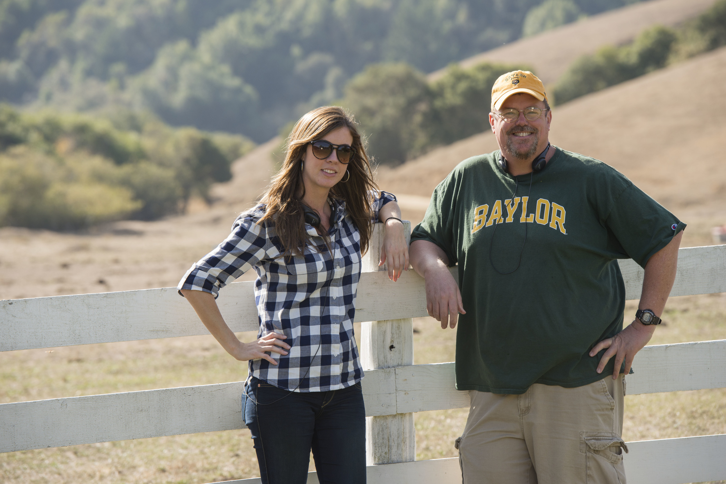 This was my partner and I on set. Photo courtesy of John Deere ®