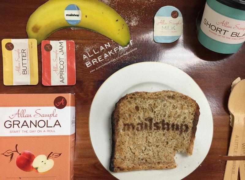 Mailshop Self Promotion Breakfast Box