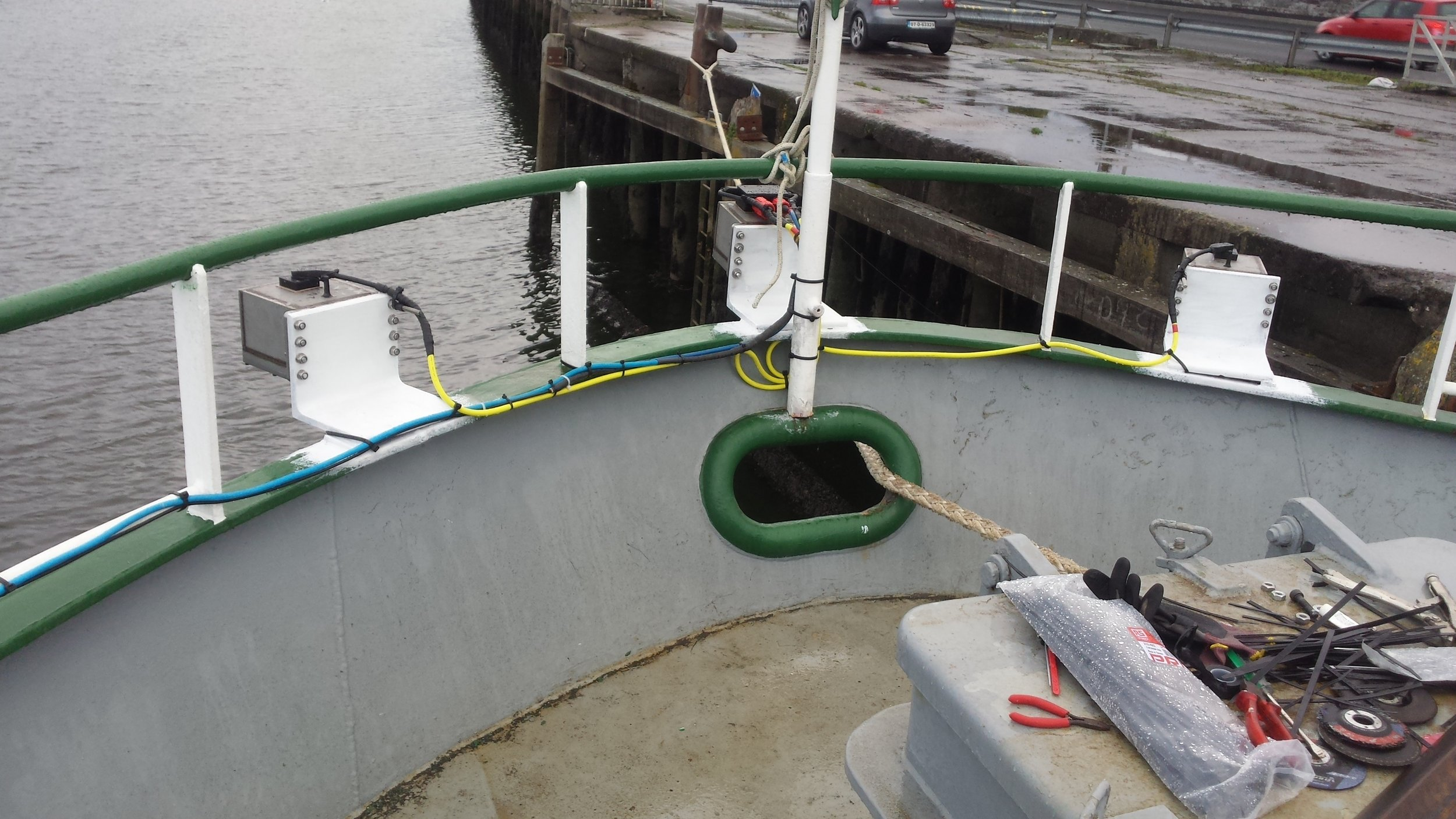 Wave sensors installed on the R/V Celtic Voyager