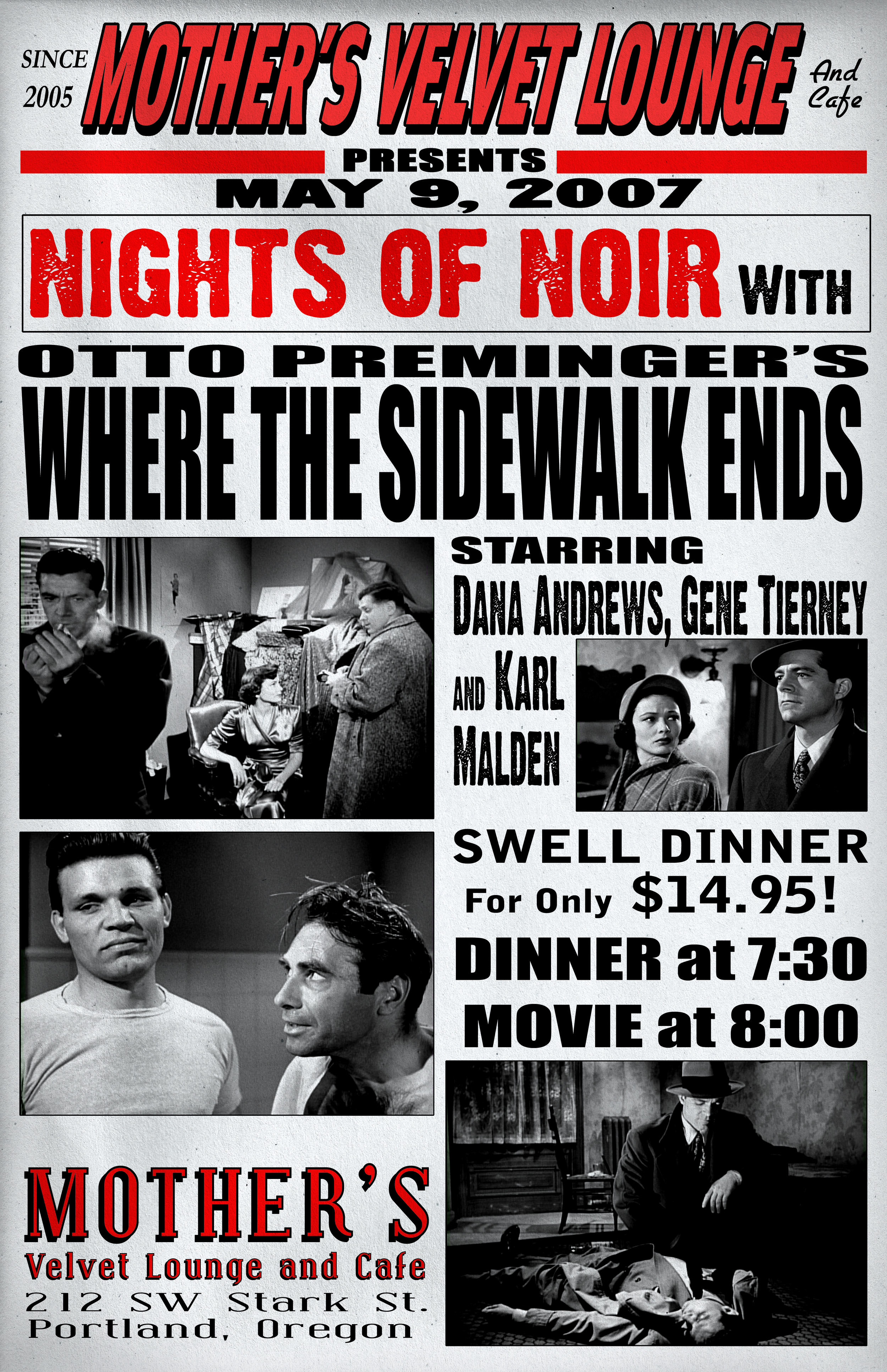 Where The Sidewalk Ends   (1950)  Otto Preminger