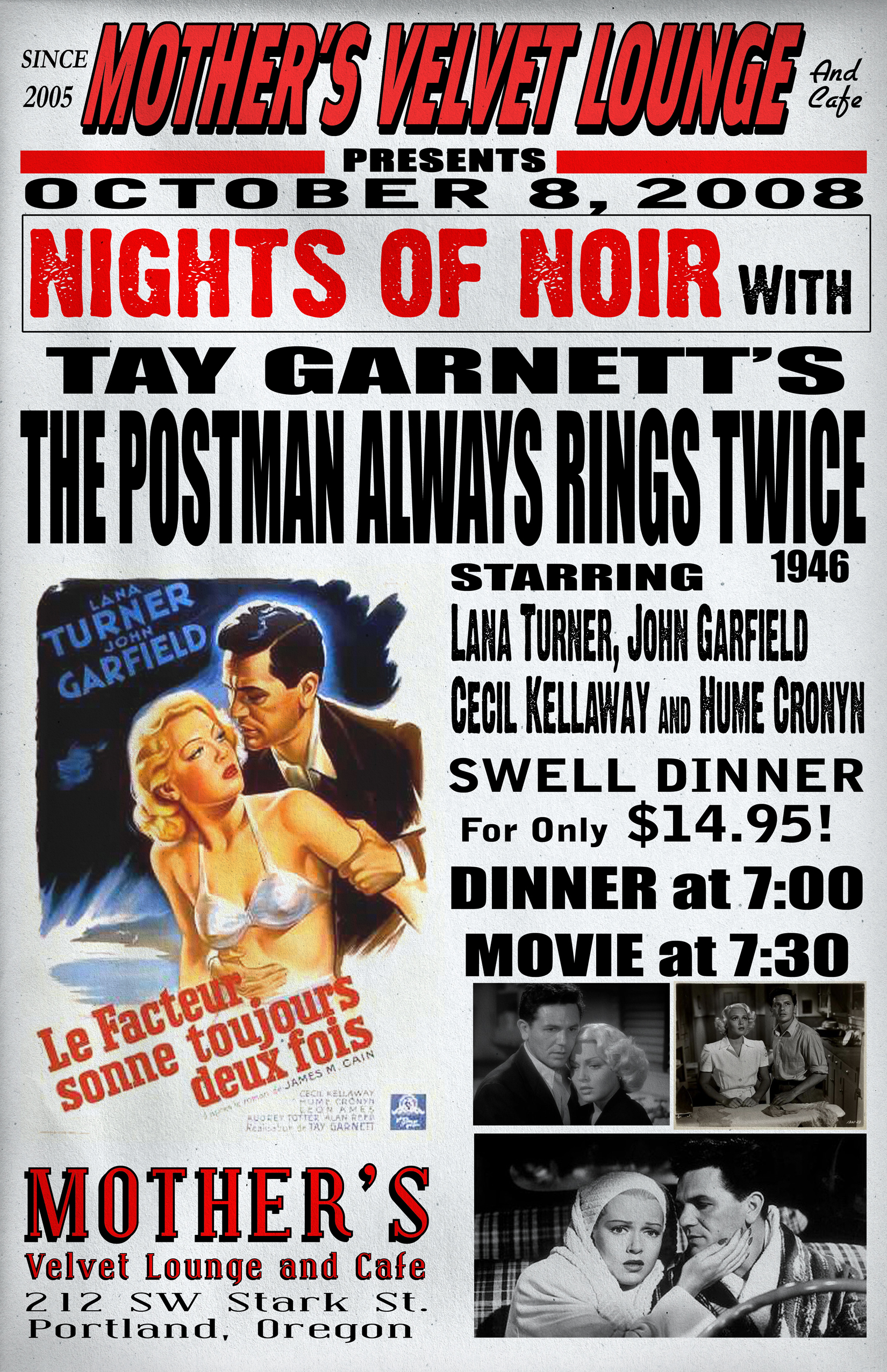 The Postman Always Rings Twice   (1946)  Tay Garnett