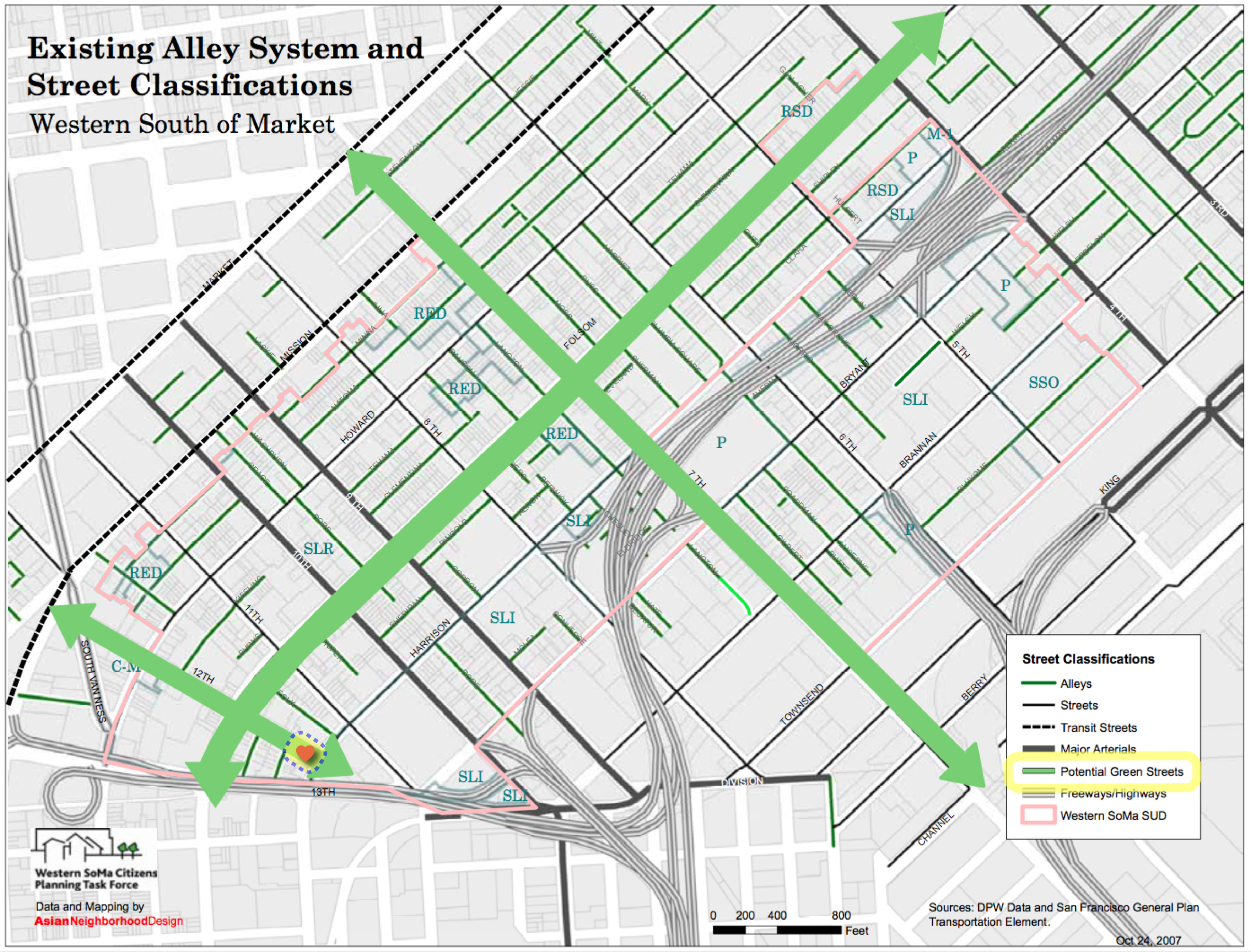 12th St prioritized as a potential green street