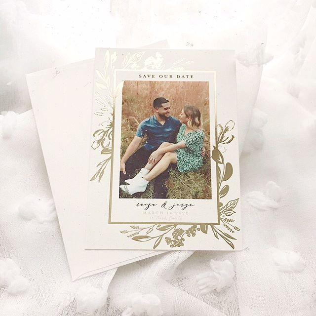 Got our save the dates in from @minted and they are beyond everything I could've dreamt of!! That's gold foil- heart eyes!  Can't wait to spend the rest of my life with you , J💙! March 14, 2020 here we come! @mintedweddings
