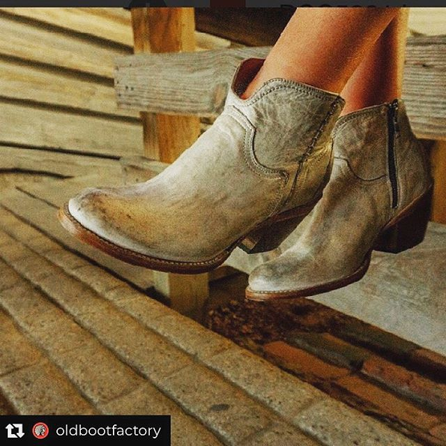 Casual Fridays call for pre-distressed booties. . Repost: @lucchese booties are perfect for all of your fall outfits🙌🏼 . #design #designer #luccheseboots #oldbootfactory #westernboots #fallfashion #ootd #fallinspo #booties #style #influencer #vegas #rodeo #ropings