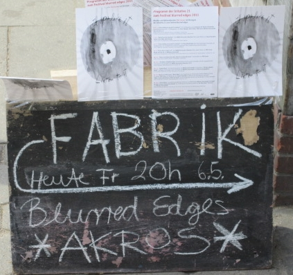 Another Akros poster @ Blurred Edges Festival, Hamburg, Germany