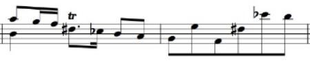 BWV 1008, Sarabande, mm. 14-15
