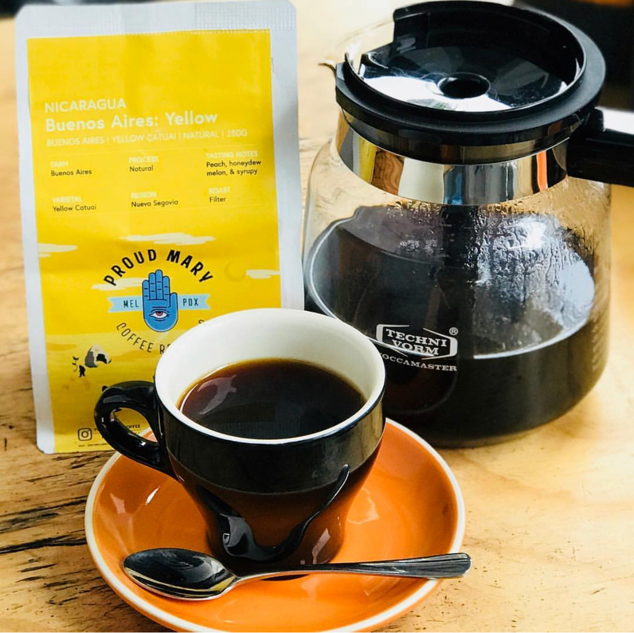 """Do You Even Filter? - Proud Mary Single Origin Goodness…Using our our Moccamaster dream-machine, our filter coffee offerings change weekly and showcase small lot, seasonal delights from some of the worlds finest coffee producers. Filter coffee is roasted slightly lighter than espresso and sparkles with lighter, fruity flavours. Best served black and hot or over ice for a summer """"Chill-ter""""."""