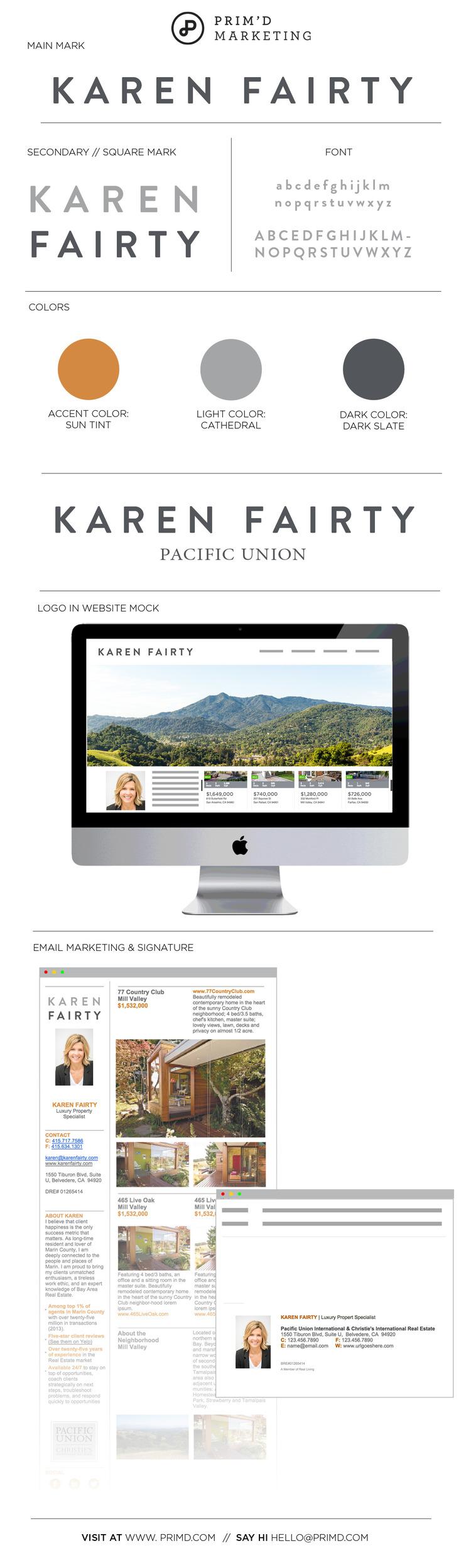 Karen Fairty logo and brand identify - Prim'd Marketing blog