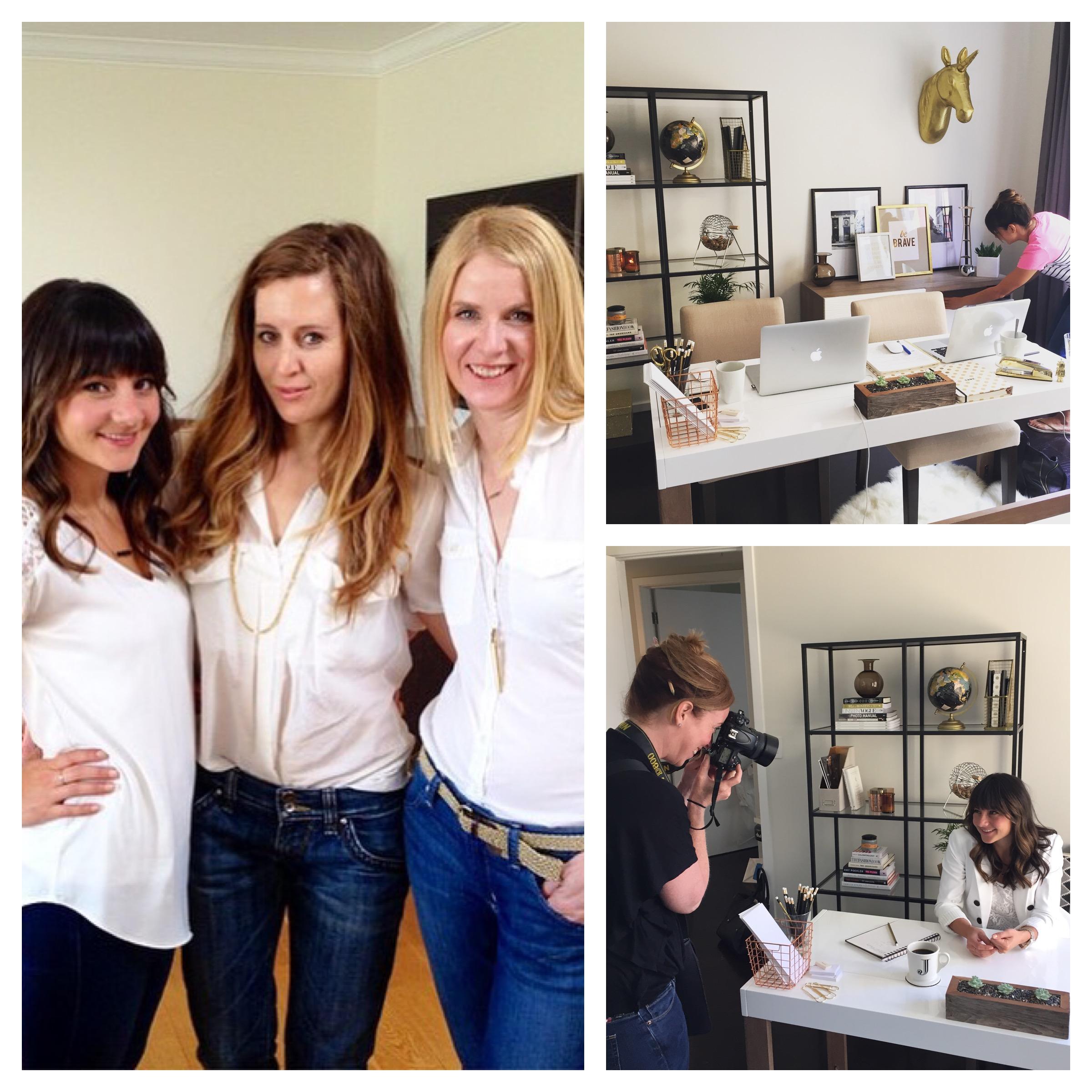 Behind the scenes at Prim'd Marketing website shoot with Nikola Elaine & Kristen Loken