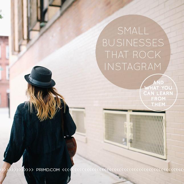 Small Business That Rock Instagram - Prim'd Marketing blog