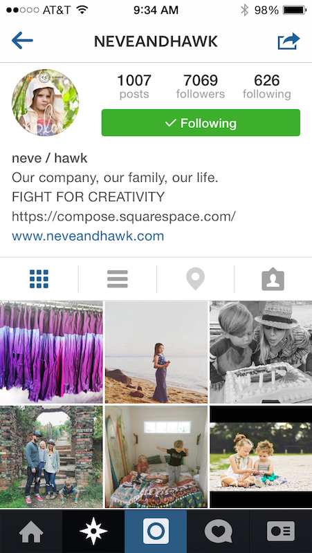 Small Businesses That Rock Instagram - Neve and Hawk Prim'd Marketing