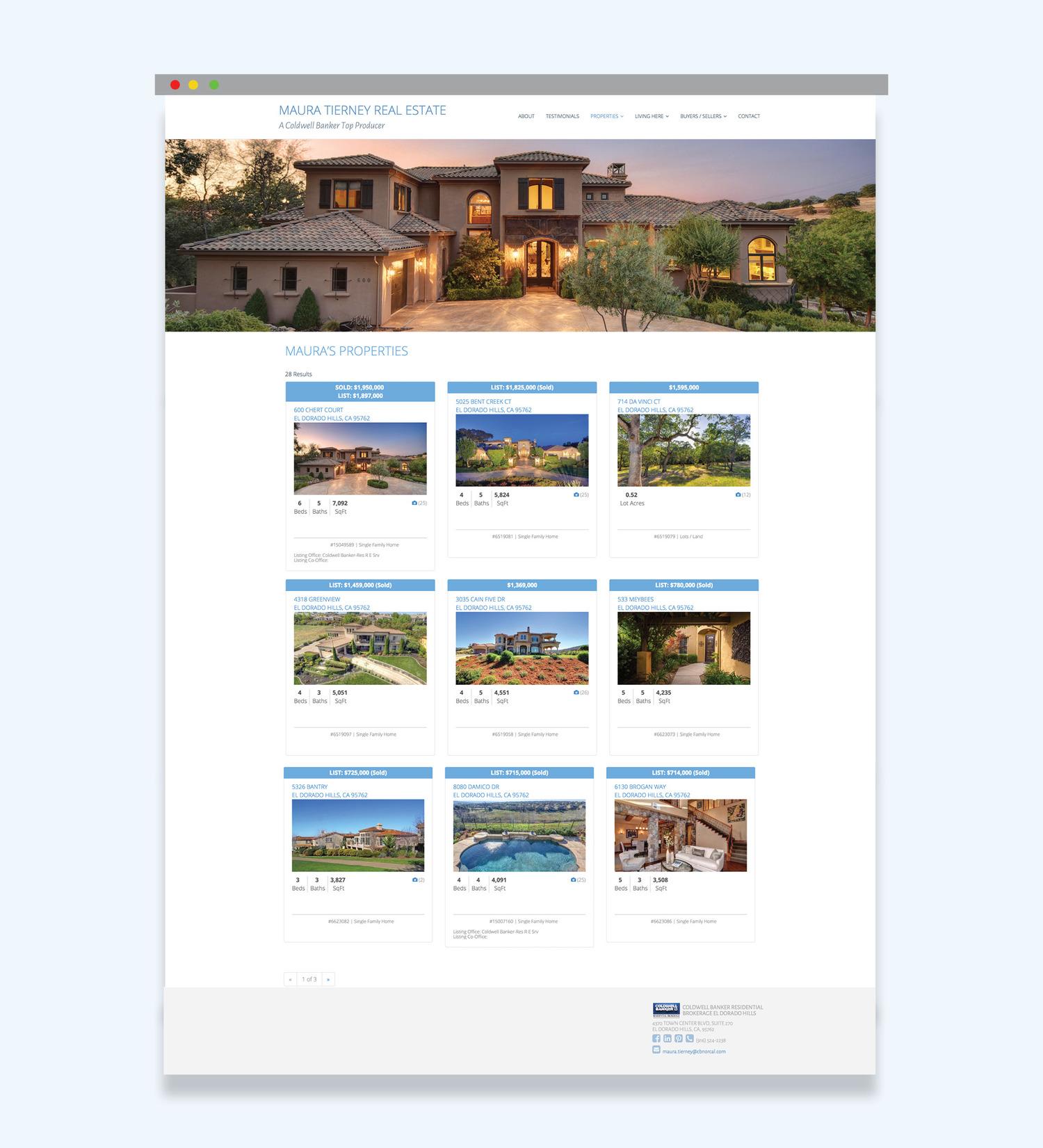 Primd Marketing - Maura Tierney Website