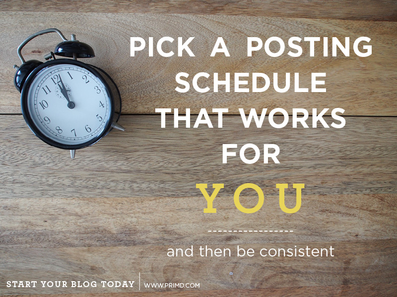 Start Your Blog Today - How Much Time Should I Be Spending? - Prim'd Marketing blog