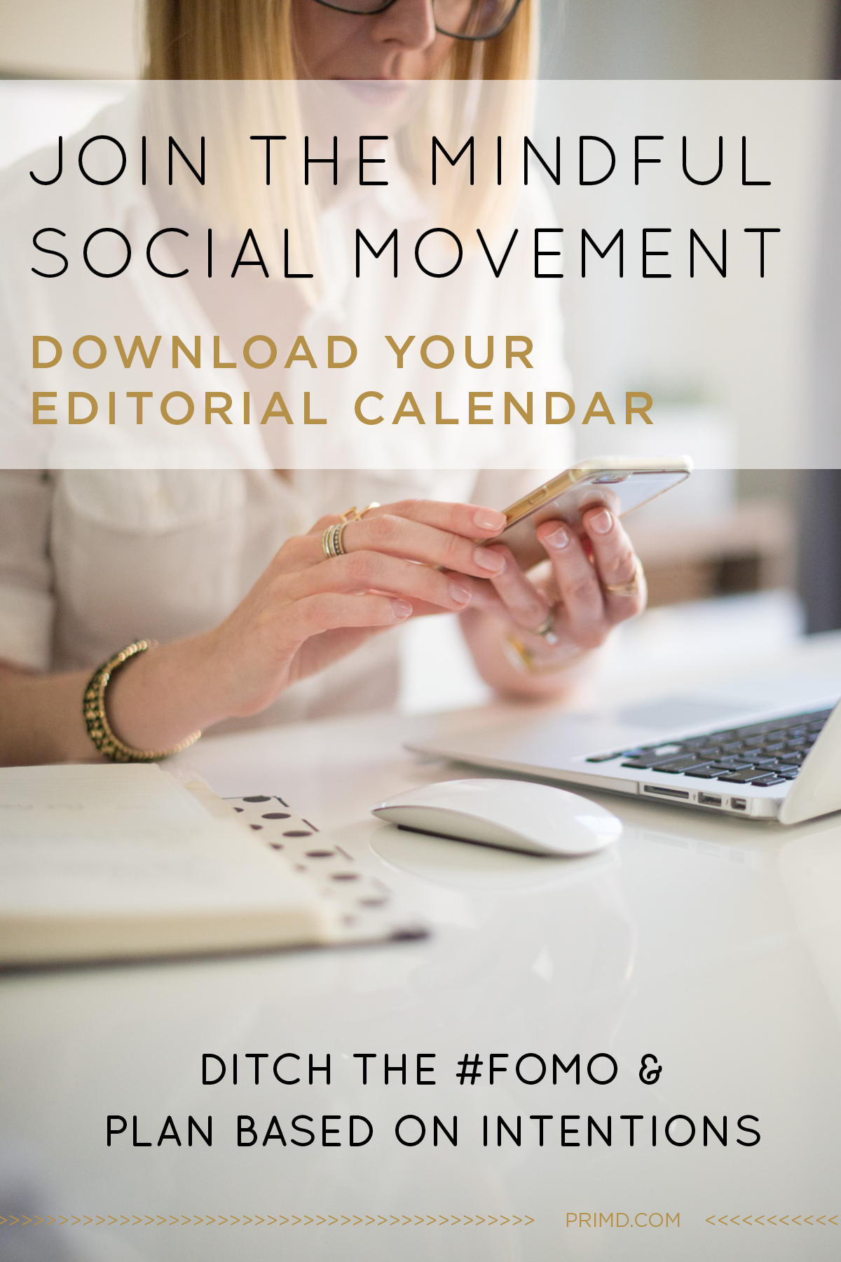 FREE Prim'd Editorial calendar template