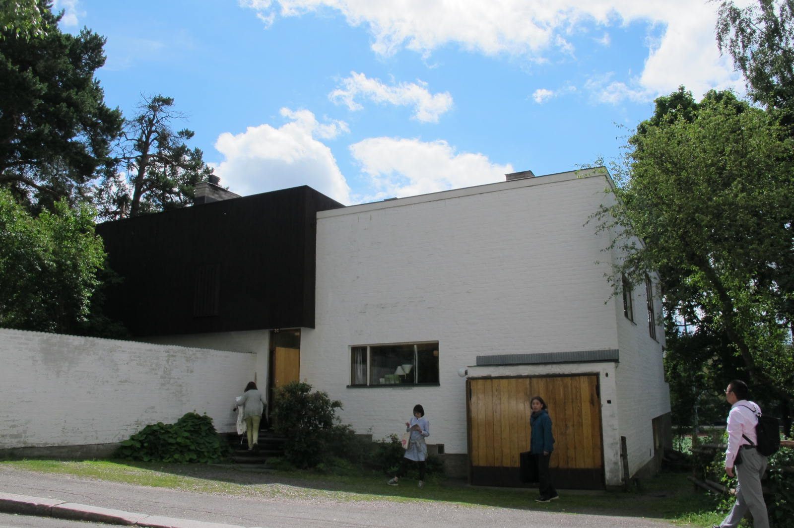 North/Street facade / Aalto House / 11 July 2015