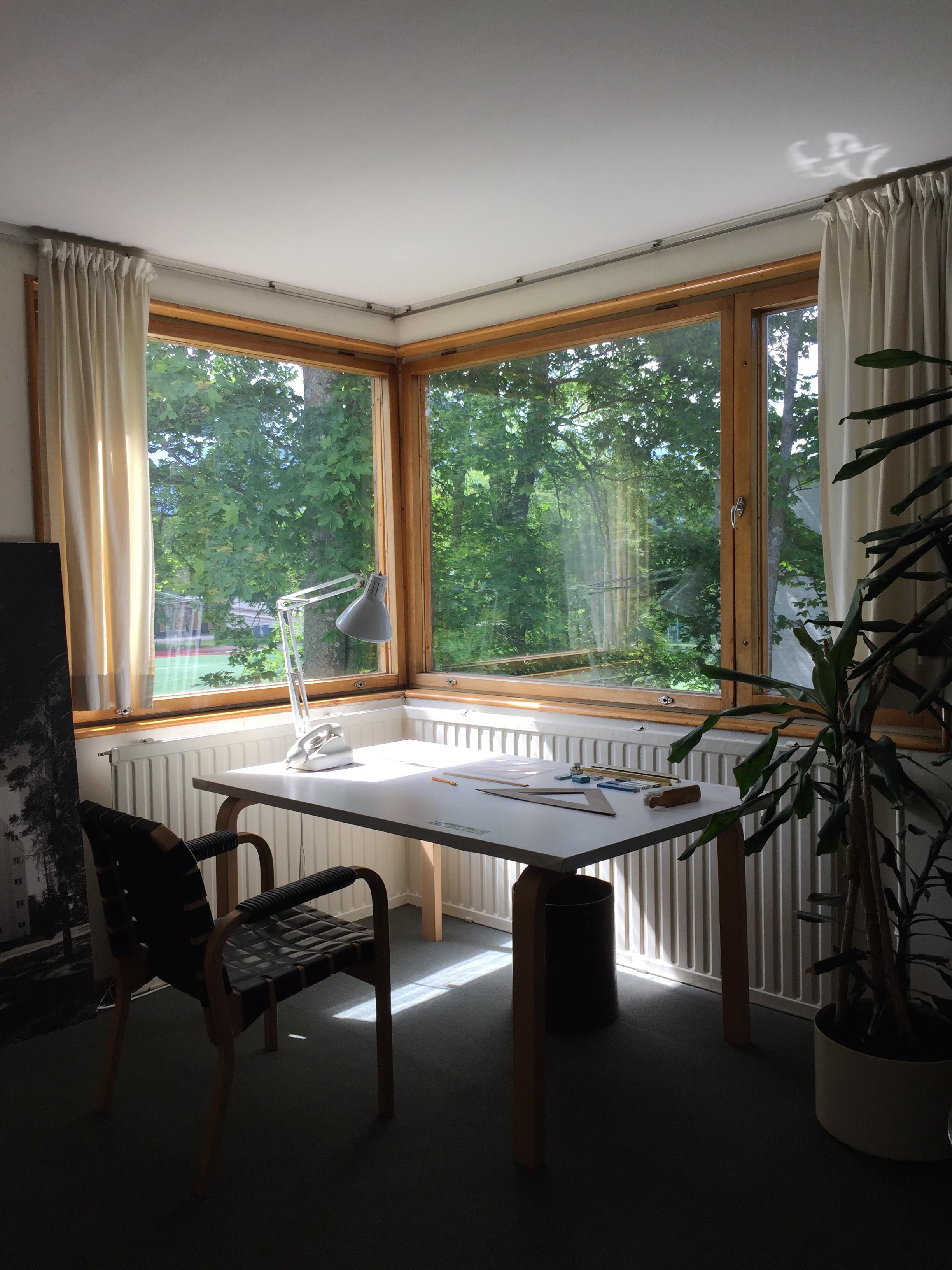 Aalto's home studio desk / Aalto House / 11 July 2015