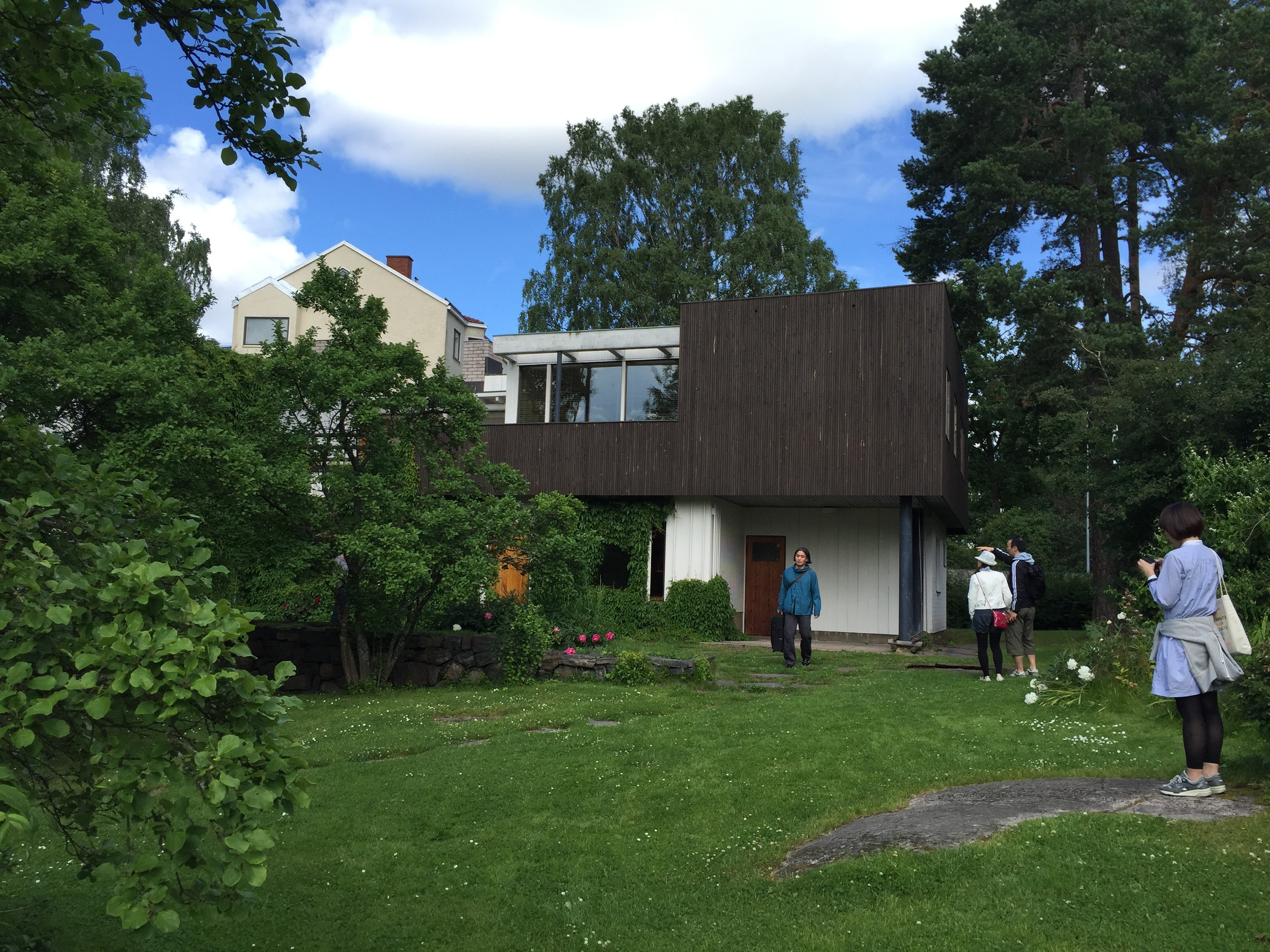 South/rear facade / Aalto House / 11 July 2015
