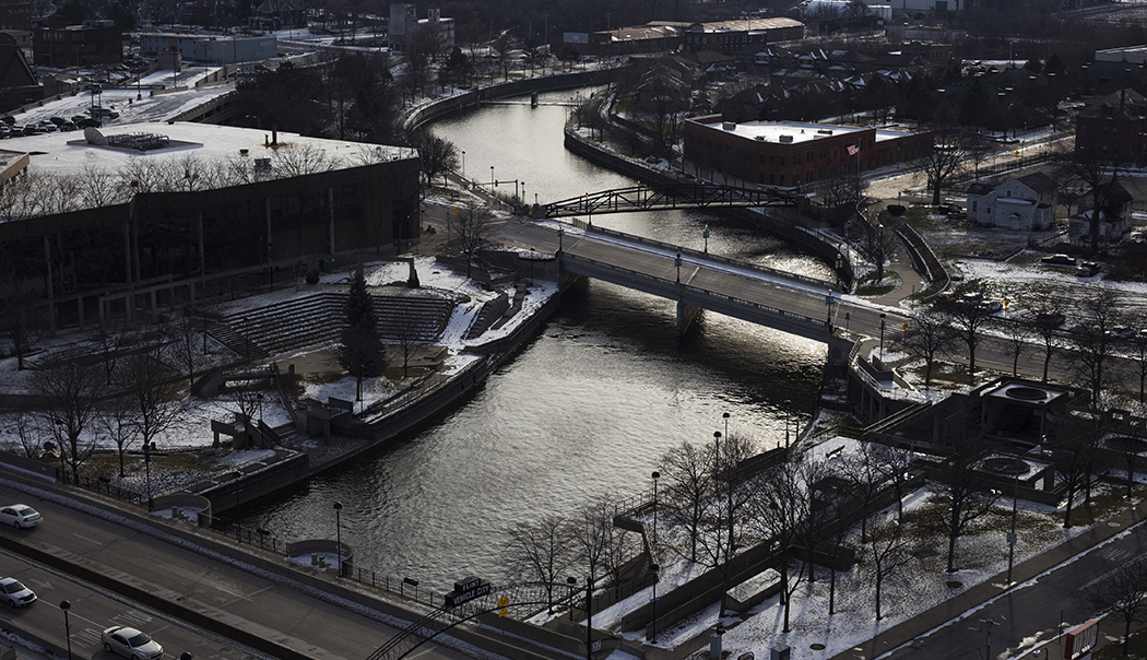 The Flint River, pictured here, became the city's source of water in April 2014 as a cost-saving strategy for the struggling, predominately black community.