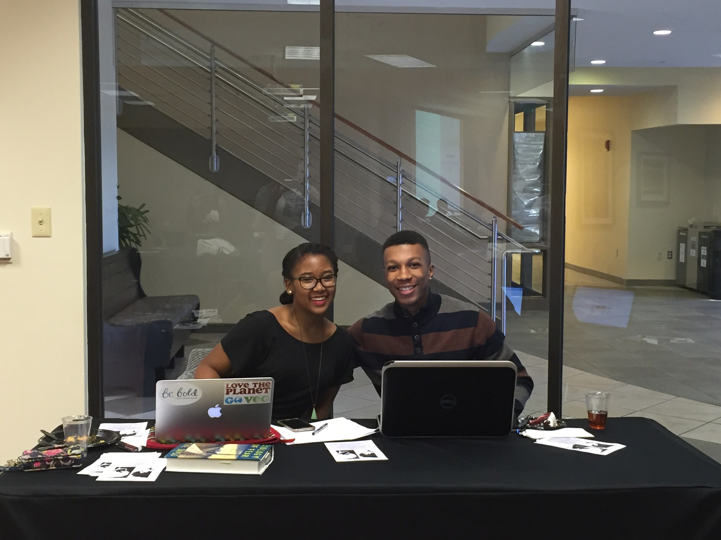 The AASU Publications Chair and Treasurer manning the check-in table. We had a great turn out!