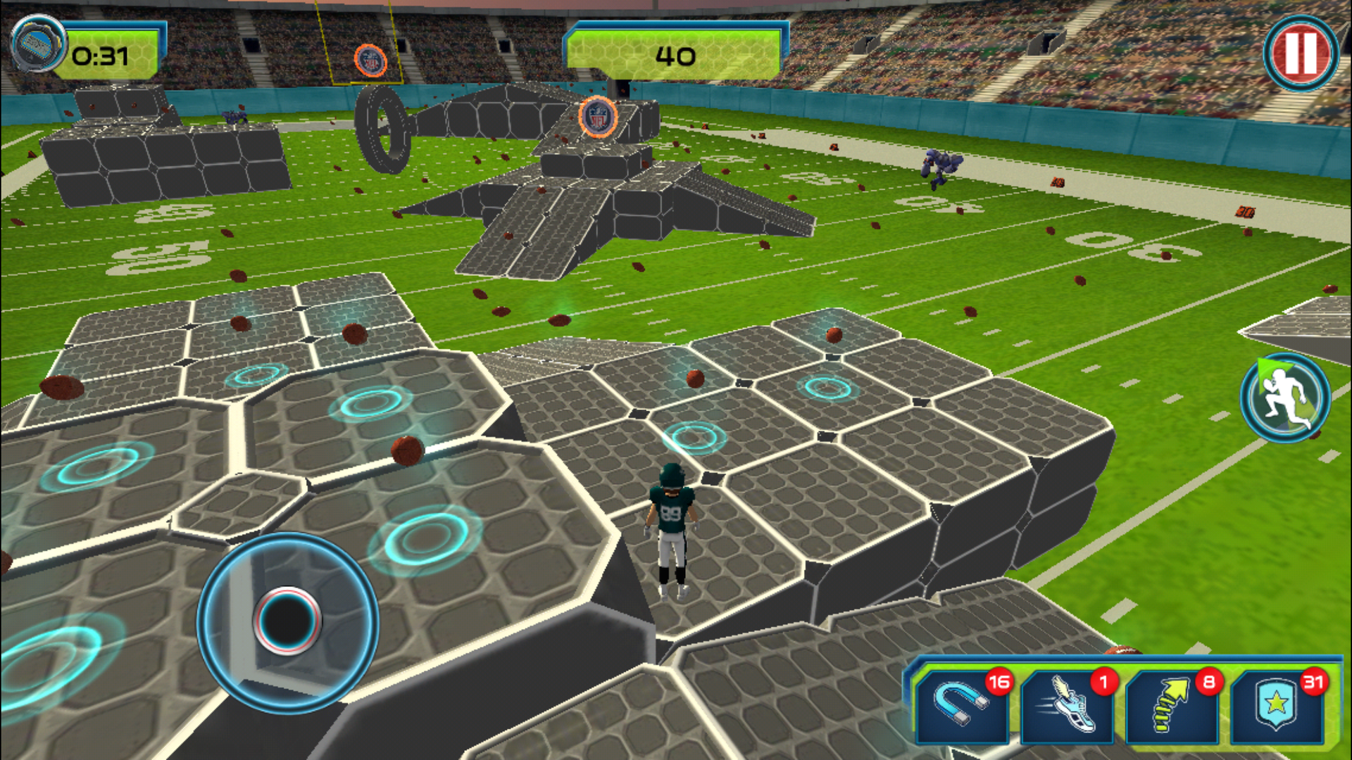 3. Players can collect shield coins to turn themselves large.