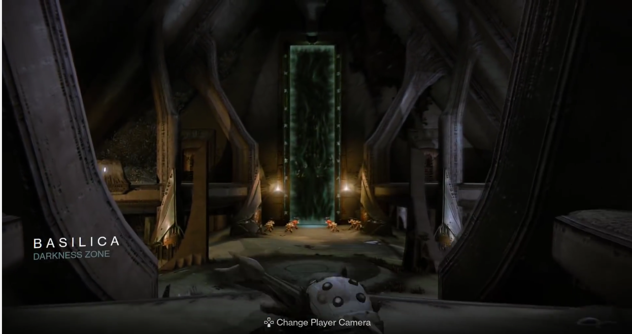 Notice: The portal and the runes outlining the doorway. Also notice the plate in front of the portal.
