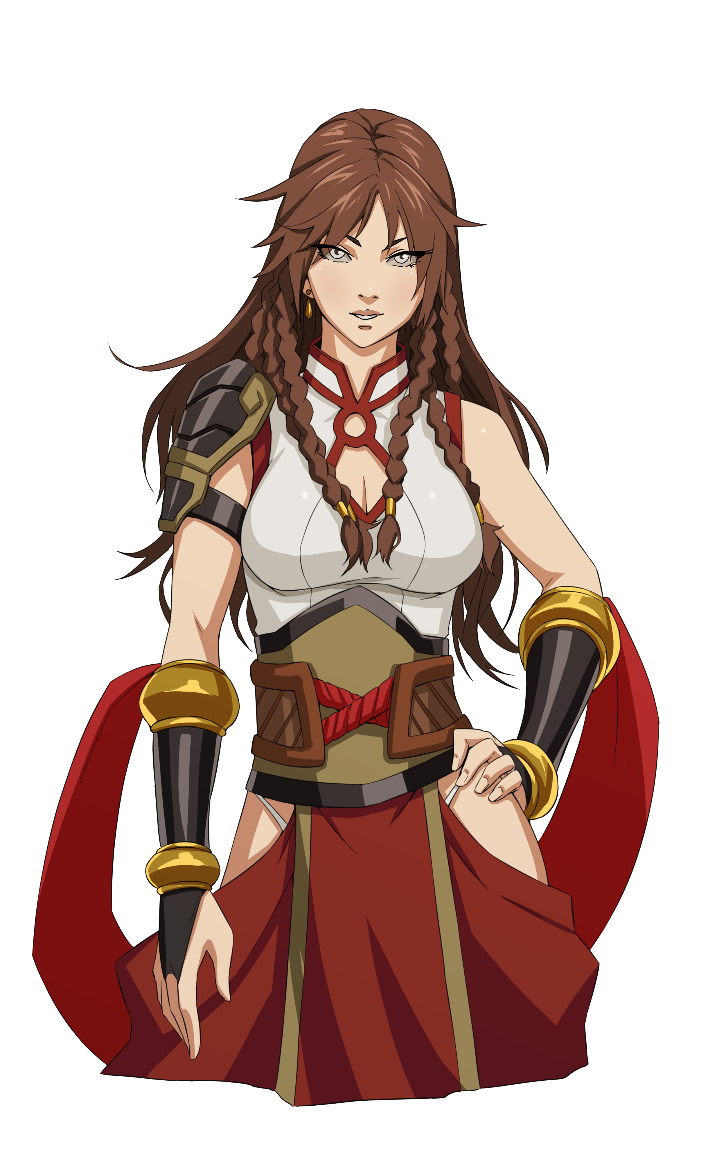 The Protagonist, heir to both the Imperial Throne and her family's martial arts style. A girl eager to prove herself as both a future leader and fighter to her mother, the Empress.