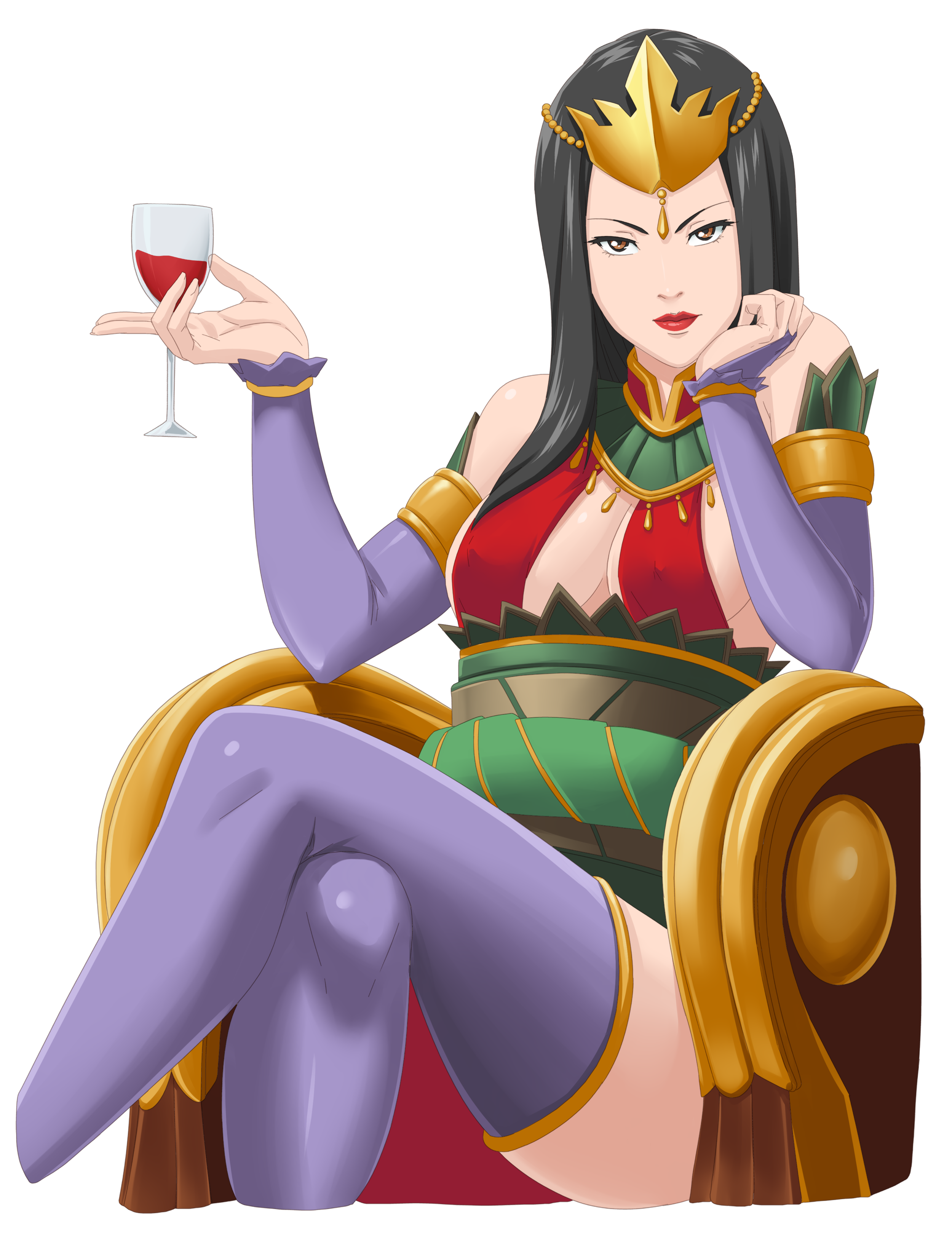 The Empress, Aya's mother and the absolute ruler of their people. She is loved as a living representation of Zhu tradition and feared for the swift and harsh punishment that tradition demands. For better or worse every action she makes is part of a legacy she will leave behind for Aya someday.