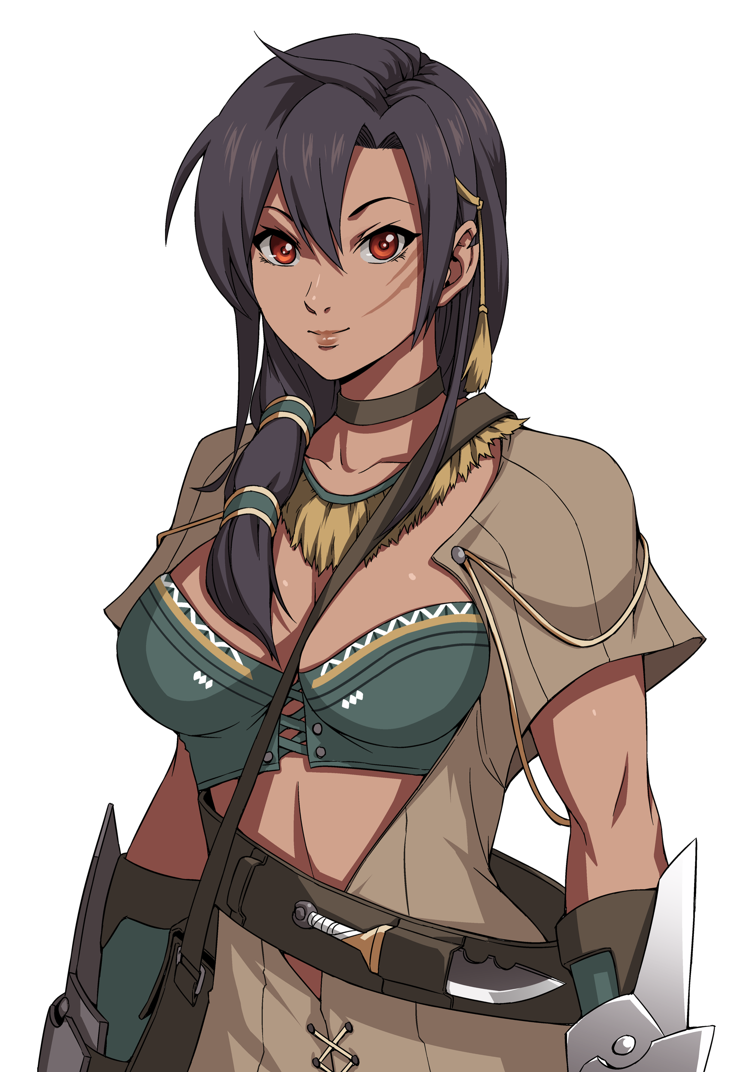 A Tribal monster hunter obsessed with mastery of the cooking arts. She comes to the palace to craft a legendary dish for the Empress.