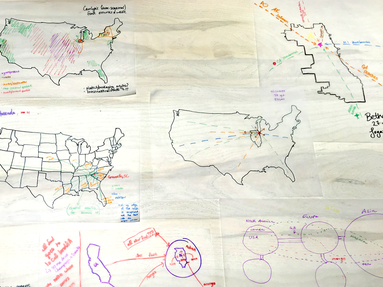 food waste maps