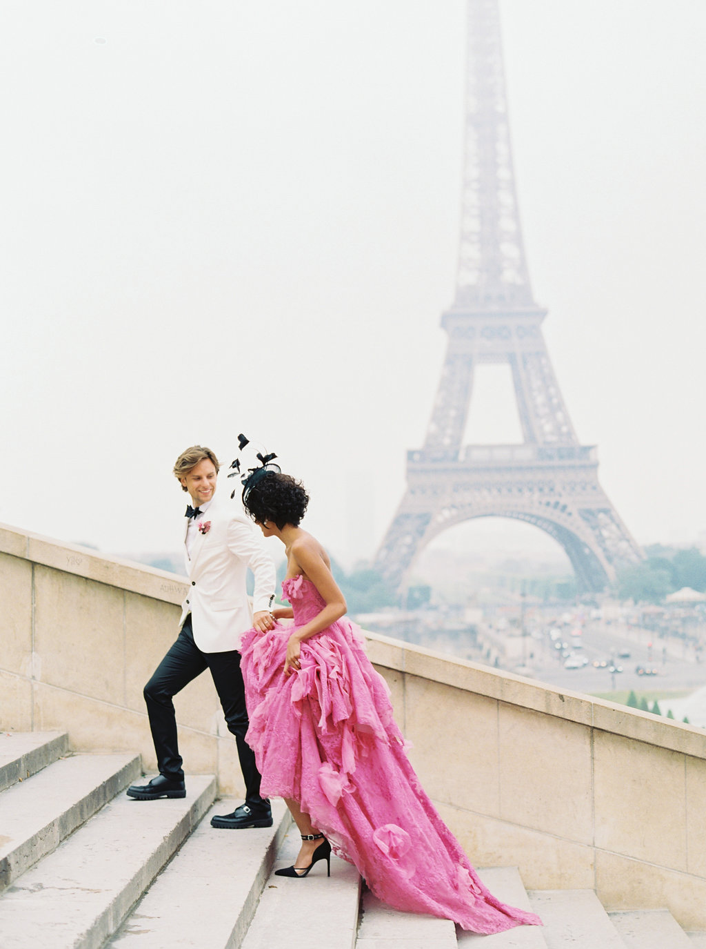 Trocadero Paris Elopement with pink Marchesa gown by East Made Event Company and Sophie Kaye Photography(5of121).jpg