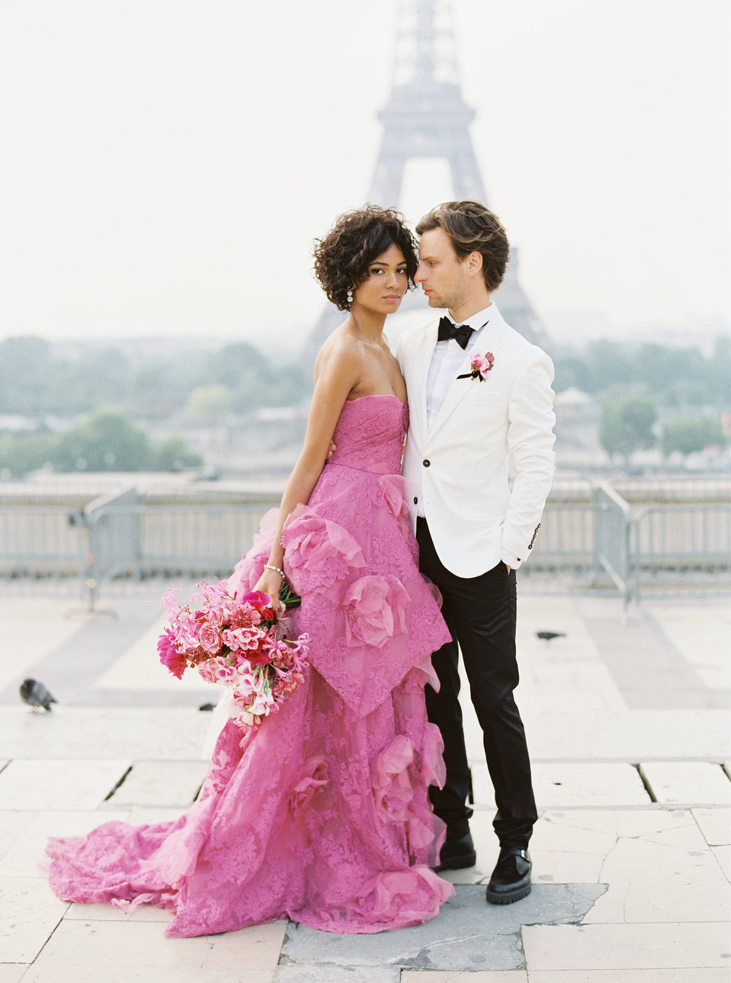 Trocadero Paris Elopement with pink Marchesa gown by East Made Event Company and Sophie Kaye Photography(39of121).jpg