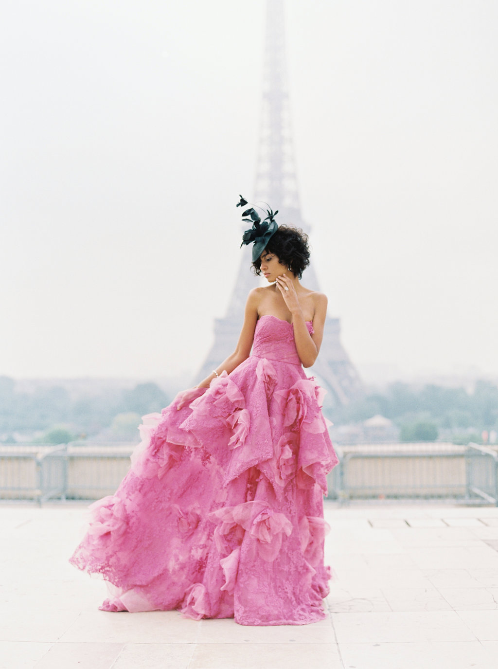 Trocadero Paris Elopement with pink Marchesa gown by East Made Event Company and Sophie Kaye Photography(51of121).jpg