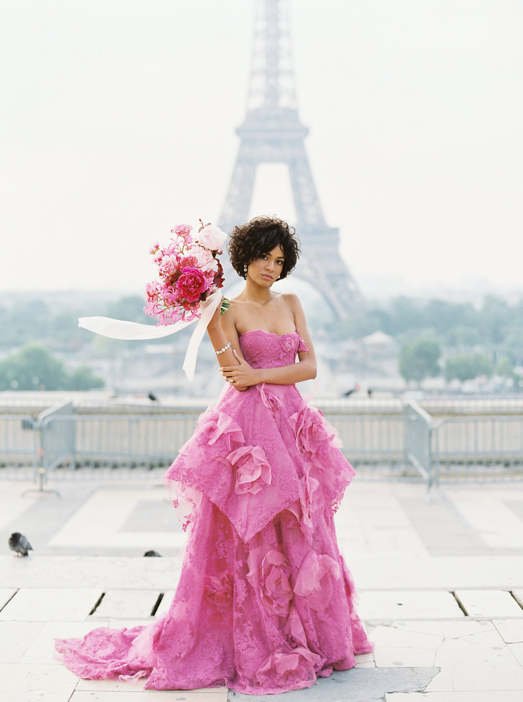 Trocadero Paris Elopement with pink Marchesa gown by East Made Event Company and Sophie Kaye Photography(62of121).jpg