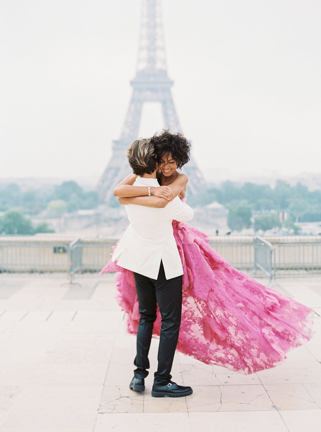 Trocadero Paris Elopement with pink Marchesa gown by East Made Event Company and Sophie Kaye Photography(96of121).jpg