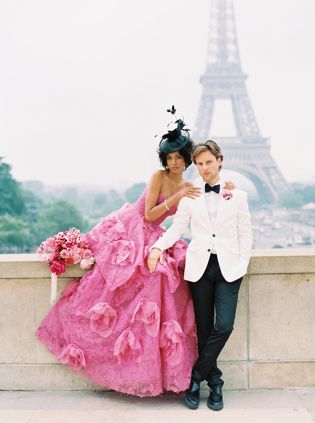 Trocadero Paris Elopement with pink Marchesa gown by East Made Event Company and Sophie Kaye Photography(107of121).jpg