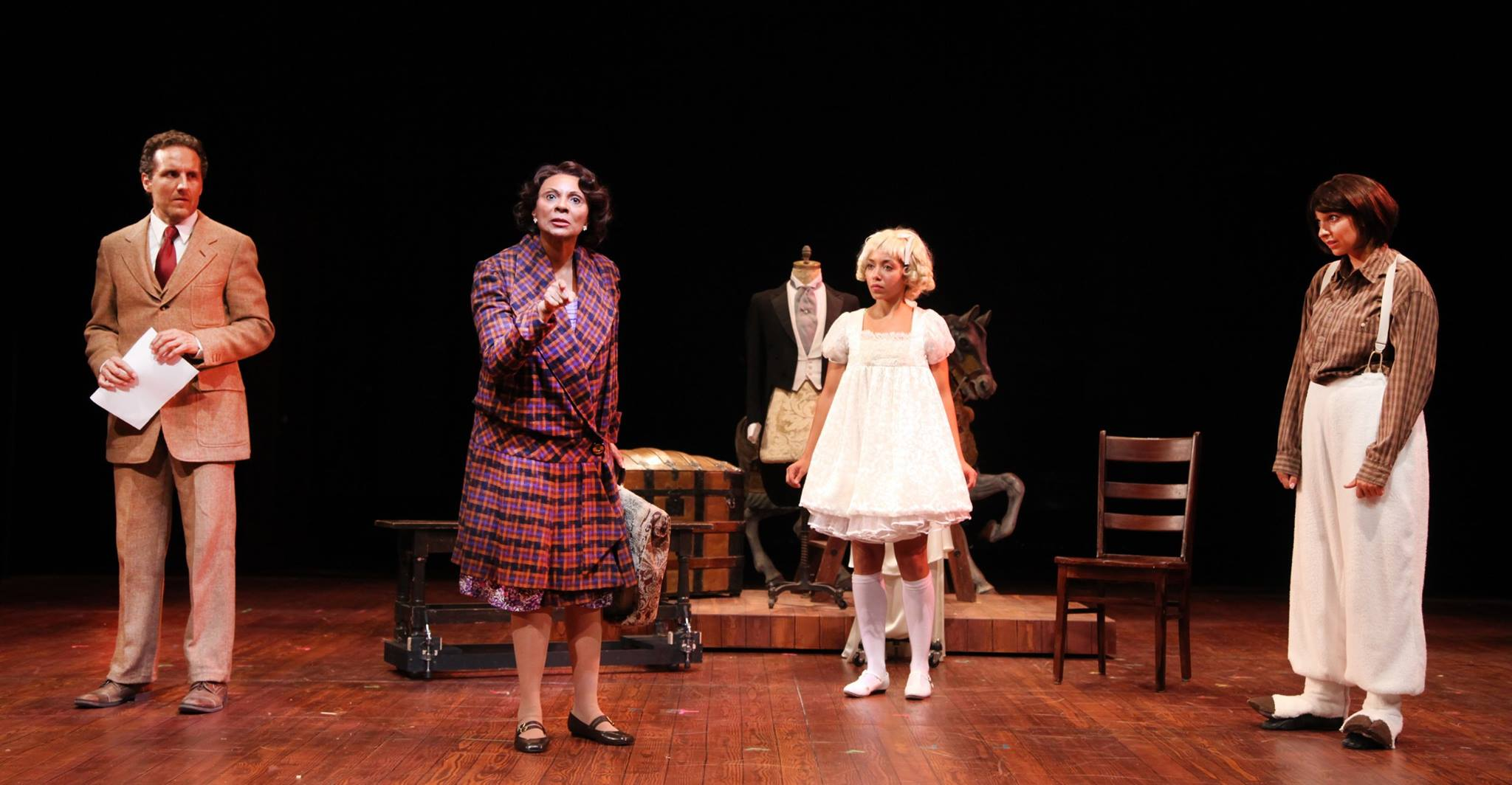 Scott Ripley, Leslie Uggams Alanna Saunders and Amandina Altomare in  Gypsy  at Connecticut Repertory Theatre. Directed and Produced by Vincent J. Cardinal