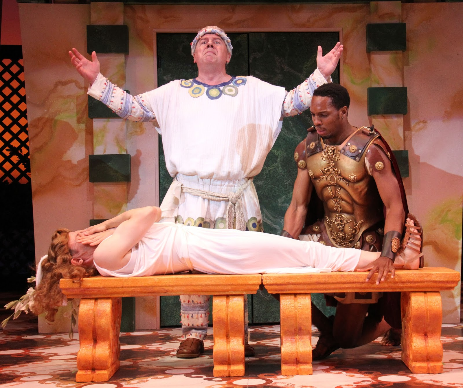 Steve Hayes in  A Funny Thing Happened on the Way To The Forum  Directed and Produced by Vincent J. Cardinal