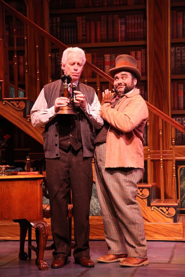 Terrence Mann and Richard Ruiz in  My Fair Lady  directed and produced by Vincent J. Cardinal.