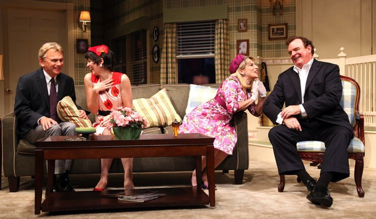 Pat Sajak, Kathleen McNeeny, Liz Larsen and Joe Moore in  The Odd Couple  at Connecticut Repertory Theatre. Directed and Produced by Vincent J. Cardinal.