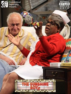 Jerry Adler and Tina Fabrique in  The Sunshine Boys  Produced and Directed by Vincent J. Cardinal